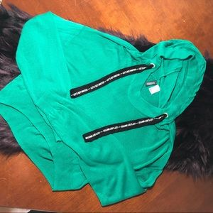 Divided H&M green cropped hoodie M